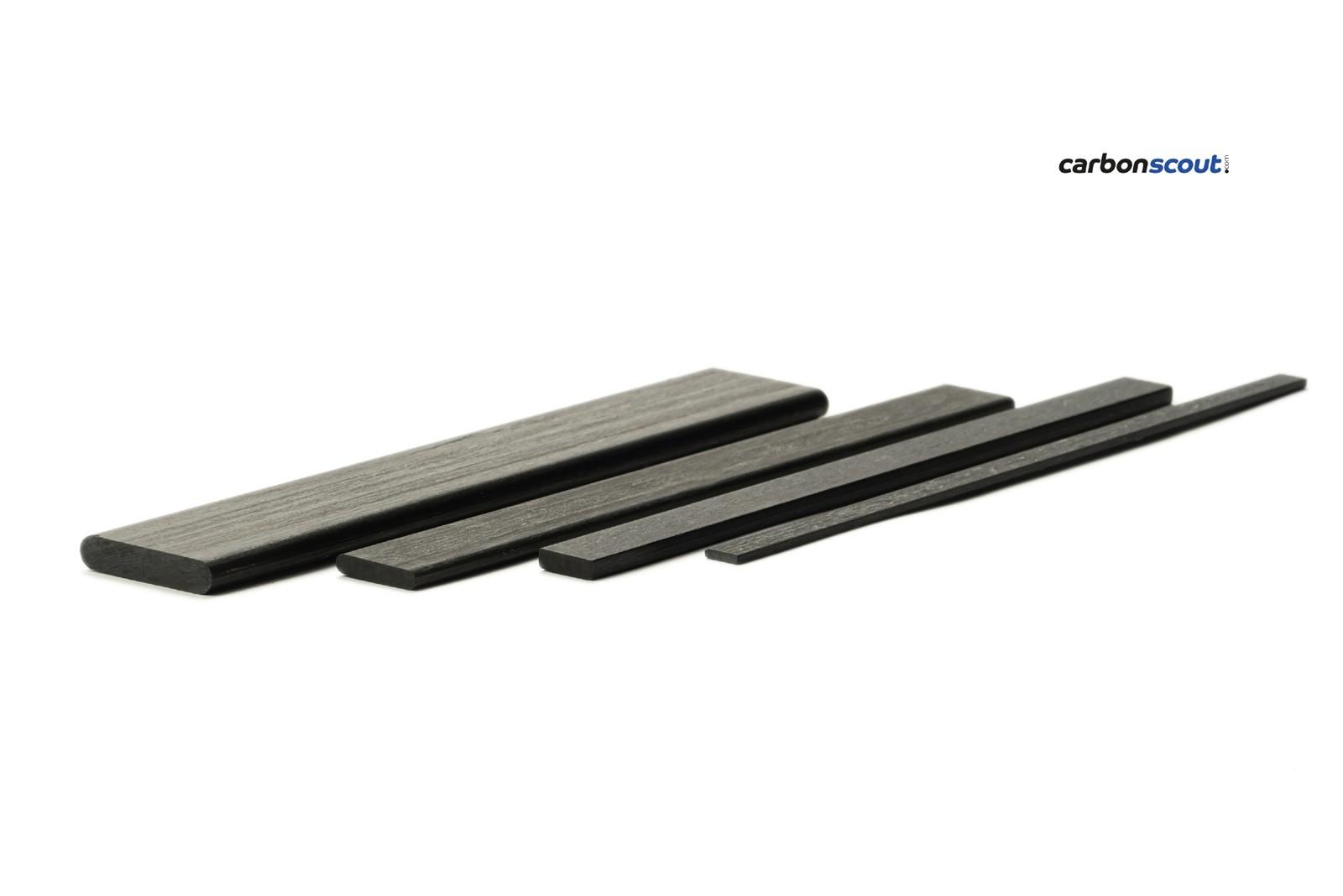 CFRP carbon rectangular profile 6 07 x 1 52 mm, length 1000 mm