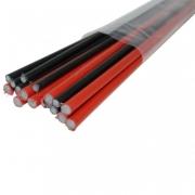 GFK Set 25 Stk. Glasfaser Stab ungeschliffen Ø 3 x 775 mm schwarz eingefärbt